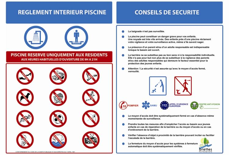 R alisation site internet et communication visuelle dalcom for Reglementation piscine